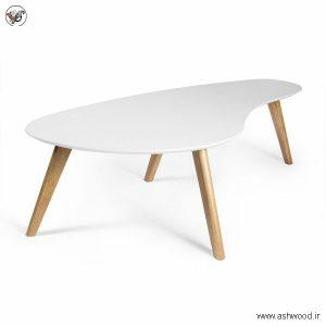 میز منحنی لوبیایی شکل