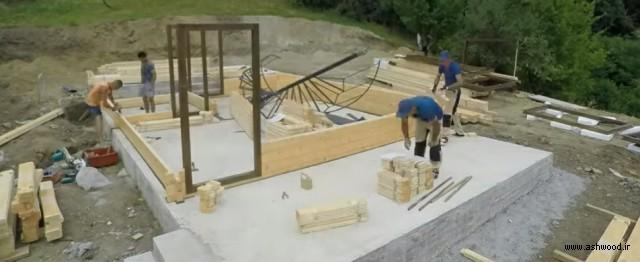 مدل کلبه چوبی سبک مدرن و کوچک , ساخت کلبه چوبی کوچک