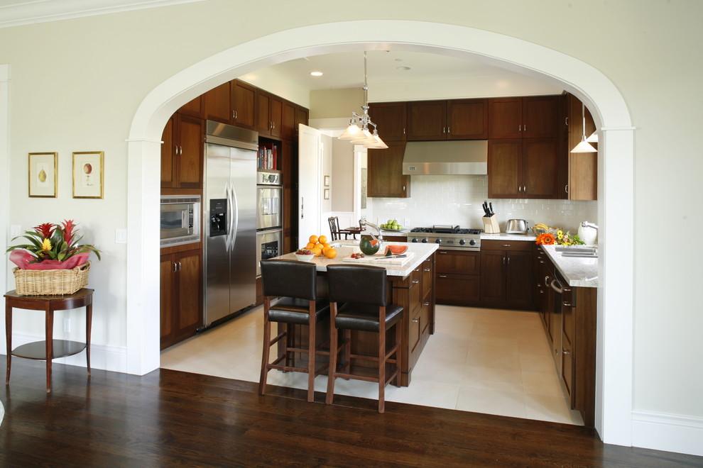 آرکآشپزخانه , دکوراسیون آشپزخانه چوبی ، اجر کاری آرک و بین کابینت