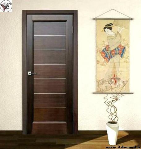 درب چوبی سبک مدرن