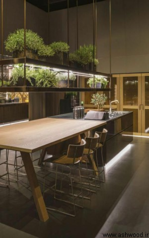 طراحی دکوراسیون داخلی آشپزخانه سبز