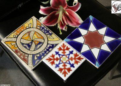 سرامیک سنتی دست ساز , کاشی هفت رنگ , کاشی لعابی