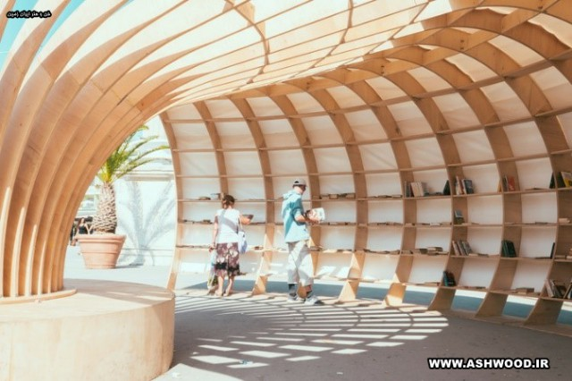 کتابخانه چوبی خیابانی ، ترویج کتابخوانی در شهر ساحلی