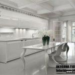 کابینت آشپزخانه معاصر سفید پلی استر پولیشی