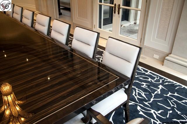 میز ناهارخوری پوست و پولیش , میز ناهارخوری پلی استر