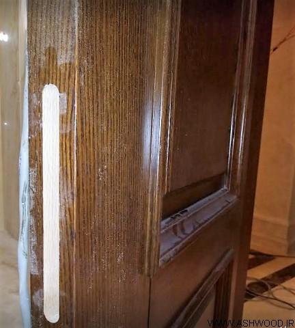 دکوراسیون لوکس چوب بلوط , درب چوبی