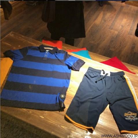 دکوراسیون چوبی مغازه بوتیک لباس , دکور چوب کاج روسی