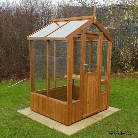 ساخت گلخانه کوچک با چوب , گلخانه چوب کاج