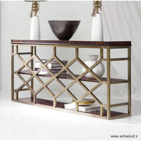 میز کنسول چوبی سبک مدرن 2019
