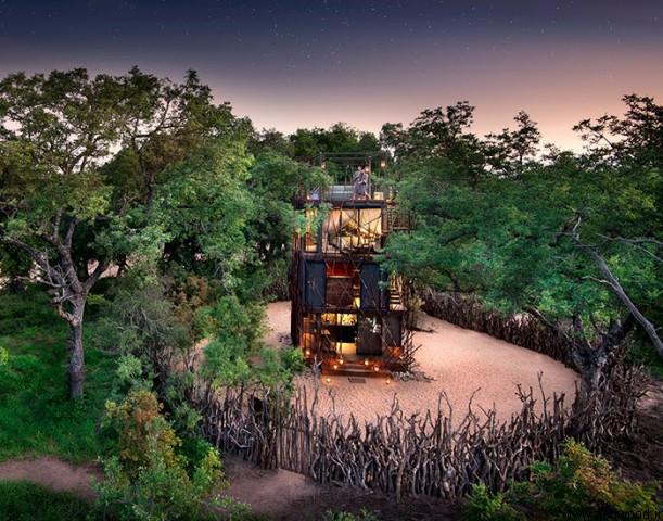 andBeyond از مسافران دعوت می کند تا در خانه درخت نگالا ، در میان بیابانهای آفریقای جنوبی بخوابند