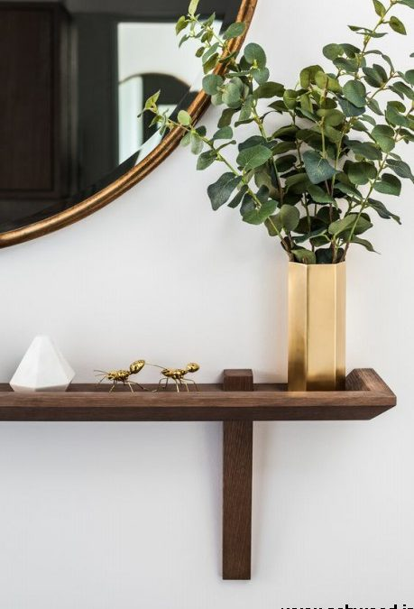 دکوراسیون راهرو آپارتمان کوچک , میز کنسول و آینه دیواری
