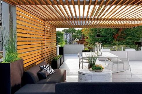 استفاده از چوب برای دکوراسیون قسمت خارجی منازل