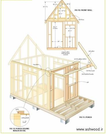 پلان کلبه چوبی کوچک , قیمت کلبه چوبی آماده