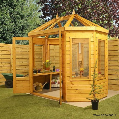 مدل گلخانه چوبی , خانه گل