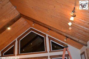 نورپردازی سقف های زیبای چوبی