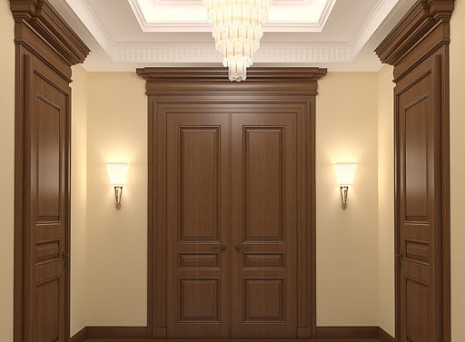 درب قاب دار چوبی