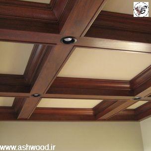 ایده و عکس نورپردازی سقف لمبه ، تیر و تیرچه و الوار سقف کاذب