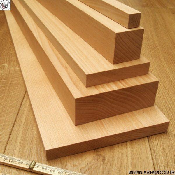 پله چوب راش , کف پله چوبی