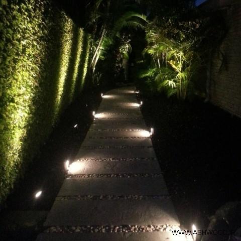 نورپردازی محیط خارجی ساختمان , نورپردازی باغ