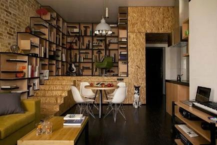 مدل قفسه بندی و کتابخانه با ورق او اس بی osb