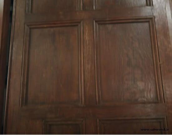 ساخت انواع درب تمام چوب سفارشی , درب چوبی قاب تونیک