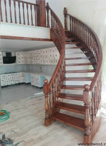 پله چوبی سفارشی سازی شده , ساخت پله چوبی