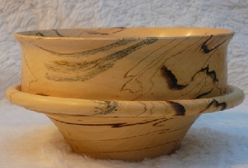 کاسه چوبی خراطی شده از چوب ممرز