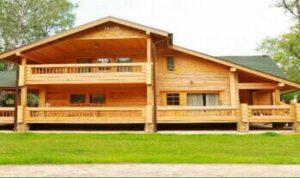ساختمان ساخته شده از چوب