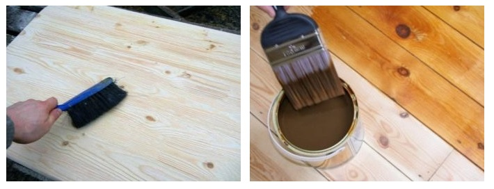 سمباده کاری و رنگ آمیزی چوب