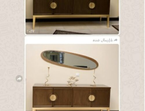 طراحی و ساخت میز کنسول چوبی خانم فرنود، نمونه کار
