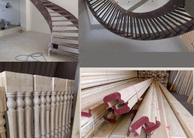 پله , Round wooden staircase