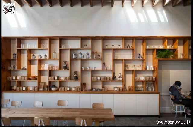 قفسه چوبی و کتابخانه , مرکز ساخت کتابخانه چوبی در تهران , خرید کتابخانه چوبی مدرن
