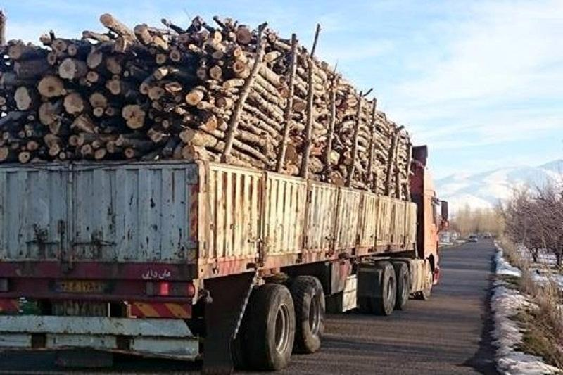 کشف محموله قاچاق چوب در ملایر