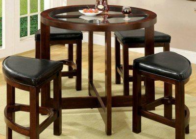 طراحی و ساخت میز گرد ناهارخوری 4 نفره و 6 نفره تمام چوب