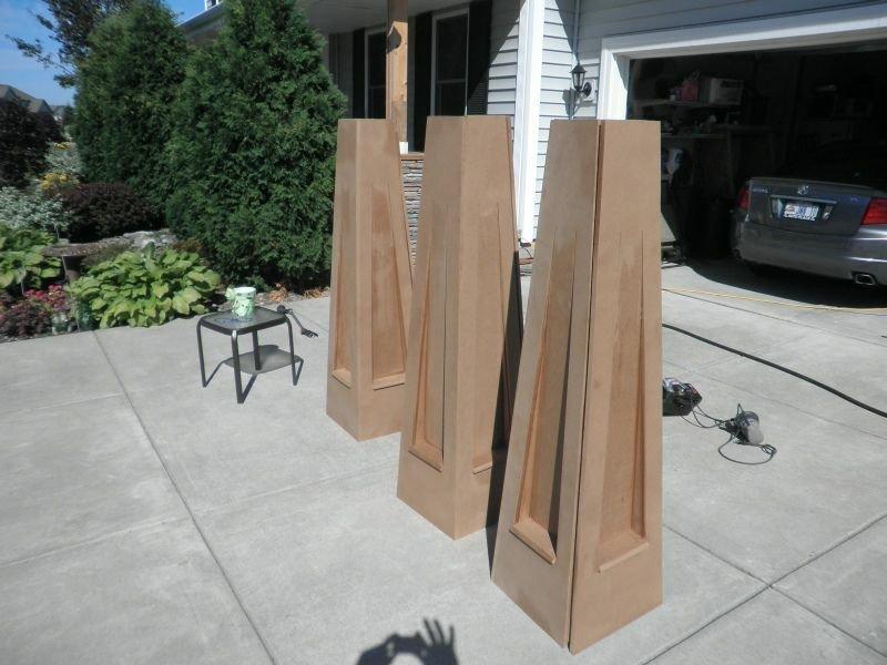 ستون چوب