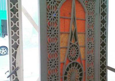 درب چوبی گره چینی ( گرهچینی )