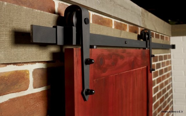 مدل درب چوبی ریلی , ایده های جالب درب چوبی ریلی و کشویی