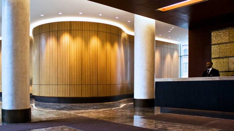 طراحی داخلی و دکوراسیون لابی ساختمان