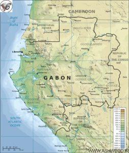 نقشه جمهوری گابن
