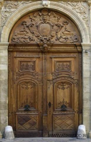 منبت روی درب , منبت کاری روی درب سفارشی , ساخت درب چوبی , مدل درب