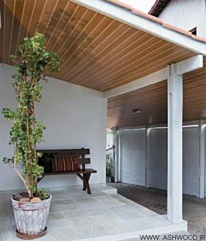سقف کاذب چوب