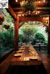 میز و صندلی باغی٬ میز و صندلی چوبی٬ نیمکت چوبی٬ میز و صندلی روستیک٬