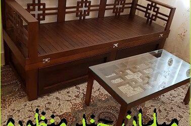 تخت سنتی دو منظوره , مبلمان و کاناپه با قابلیت استفاده بعنوان تخت