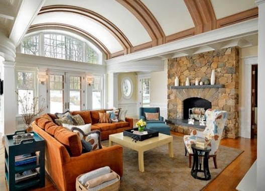 سقف چوبی و استفاده به جا از رنگ ها
