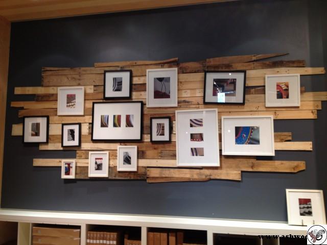 دکور چوبی روی دیوار , مدل باکس روی دیوار