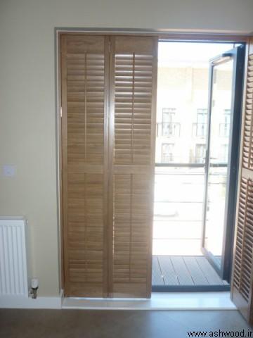 درب چوبی کرکره ای فرانسوی