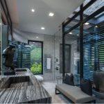 نورپردازی مربع ال ای دی , دکوراسیون و نورپردازی سقف کاذب چوبی