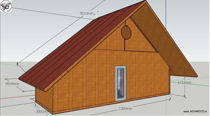 خانه های مثلثی ، شله و یا کلبه چوبی به نام شله ، خانه مثلثی ، شله ، خانه چوبی. طراحی و ساخت کلبه چوبی