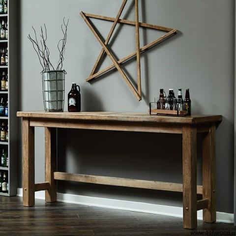 میز بار چوب بلوط