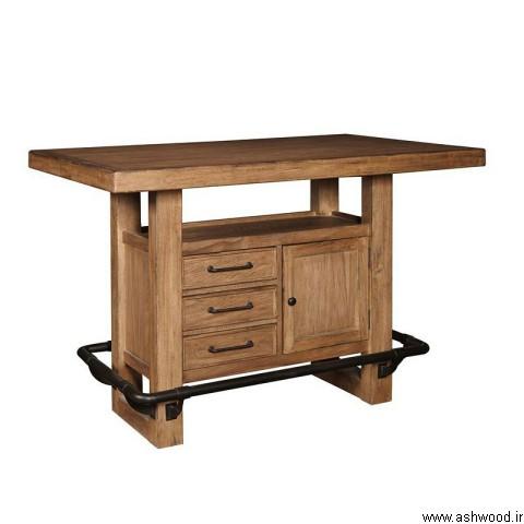 میز بار چوب بلوط , دکوراسیون چوبی